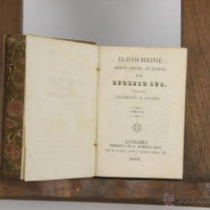 Libros antiguos: D-297. EL JUDIO ERRANTE. EUGENIO SUE. IMP. DOMINGO RUIZ. 1846. 8 TOMOS EN 4 VOL. . Lote 42398398