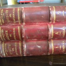 Libros antiguos: QUIJOTE CENTENARIO DIBUJOS, FOLIO MAYOR. Lote 42718953