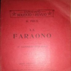 Libros antiguos: LA FARAONO ESPERANTO GRUPO ESPERANTISTA DE MURCIA 1907. Lote 42908934