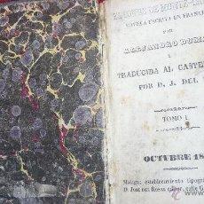 Libros antiguos: PRECIOSO LIBRO DE BOLSILLO CONDE DE MONTECRISTO TOMO UNO, AÑO 1847 EDITADO EN MÁLAGA. Lote 43275623