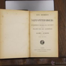 Libros antiguos: D-439. LES SOIREES DE SAINT PETERSBOURG. J. DE MAISTRE. LIB. GARNIER. 2 VOL. S/F. Lote 43289221