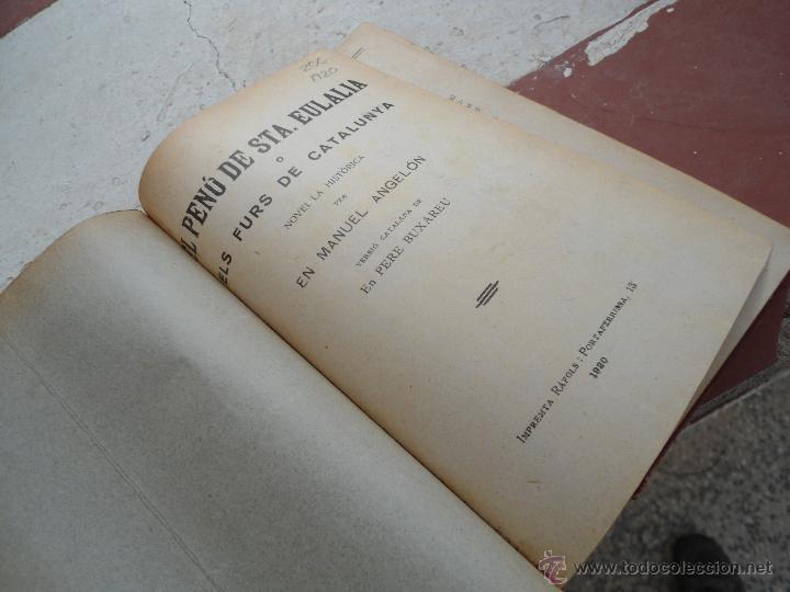 Libros antiguos: Libro El penú de sta. Eulalia En Manuel Angelón 1920 L-7504 - Foto 2 - 43944248