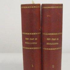 Libros antiguos: DON JUAN DE SERRALLONGA. NOVELA HISTÓRICA ORIGINAL DE DON VICTOR BALAGUER. TOMO I Y II. Lote 45390726