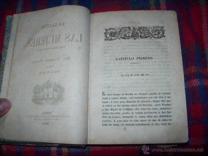Libros antiguos: LA GUERRA DE LAS MUJERES.ALEJANDRO DUMAS.1ª EDICIÓN 1858. UNA VERDADERA JOYITA.VER FOTOS. - Foto 5 - 46504884