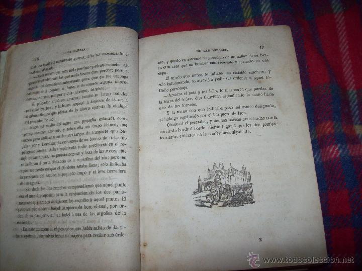 Libros antiguos: LA GUERRA DE LAS MUJERES.ALEJANDRO DUMAS.1ª EDICIÓN 1858. UNA VERDADERA JOYITA.VER FOTOS. - Foto 7 - 46504884