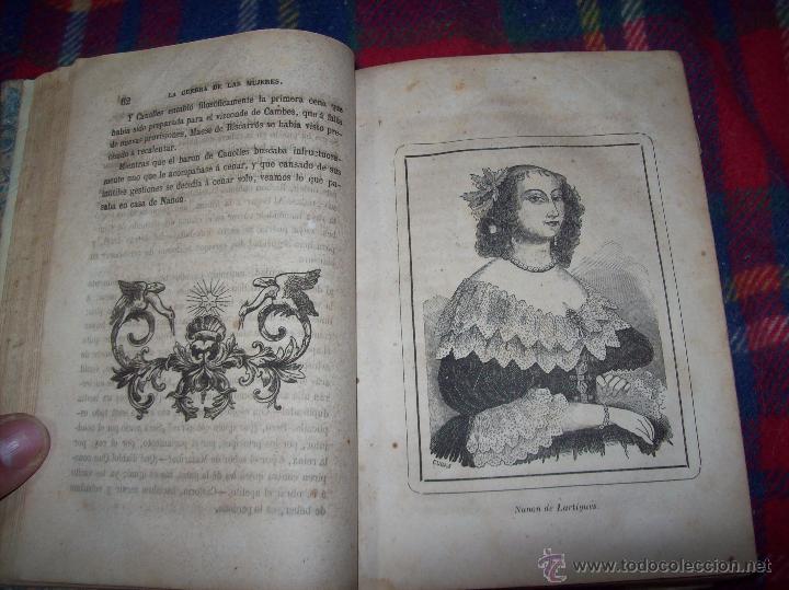Libros antiguos: LA GUERRA DE LAS MUJERES.ALEJANDRO DUMAS.1ª EDICIÓN 1858. UNA VERDADERA JOYITA.VER FOTOS. - Foto 9 - 46504884