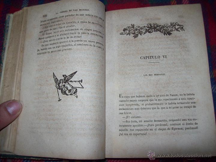 Libros antiguos: LA GUERRA DE LAS MUJERES.ALEJANDRO DUMAS.1ª EDICIÓN 1858. UNA VERDADERA JOYITA.VER FOTOS. - Foto 11 - 46504884
