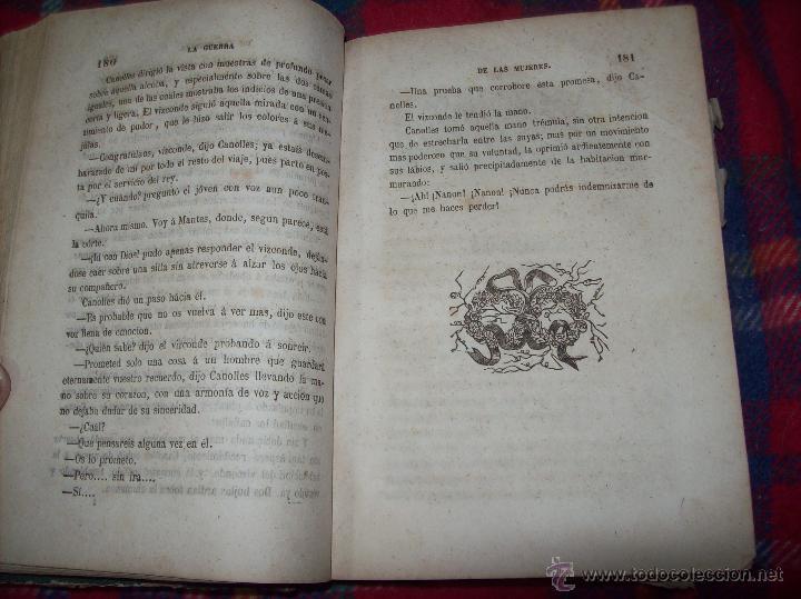 Libros antiguos: LA GUERRA DE LAS MUJERES.ALEJANDRO DUMAS.1ª EDICIÓN 1858. UNA VERDADERA JOYITA.VER FOTOS. - Foto 14 - 46504884