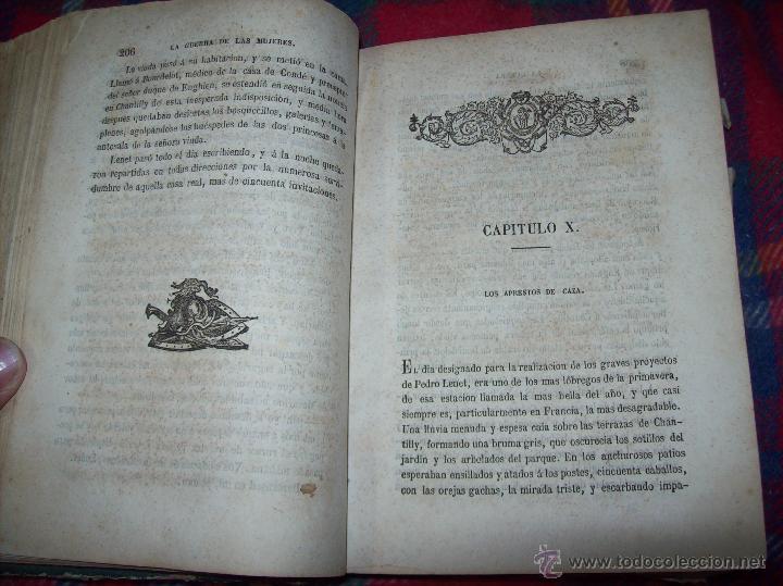 Libros antiguos: LA GUERRA DE LAS MUJERES.ALEJANDRO DUMAS.1ª EDICIÓN 1858. UNA VERDADERA JOYITA.VER FOTOS. - Foto 16 - 46504884