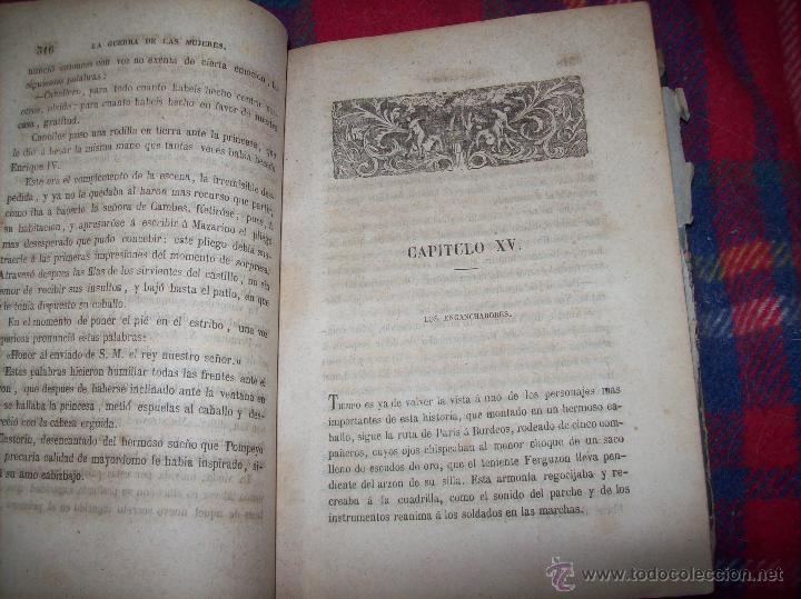 Libros antiguos: LA GUERRA DE LAS MUJERES.ALEJANDRO DUMAS.1ª EDICIÓN 1858. UNA VERDADERA JOYITA.VER FOTOS. - Foto 19 - 46504884