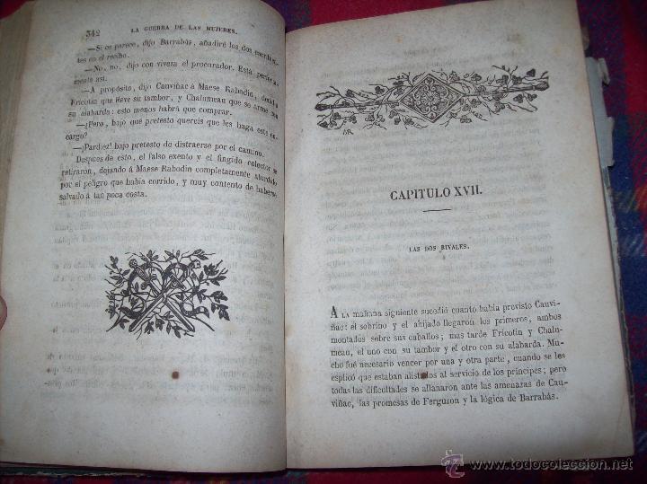 Libros antiguos: LA GUERRA DE LAS MUJERES.ALEJANDRO DUMAS.1ª EDICIÓN 1858. UNA VERDADERA JOYITA.VER FOTOS. - Foto 20 - 46504884