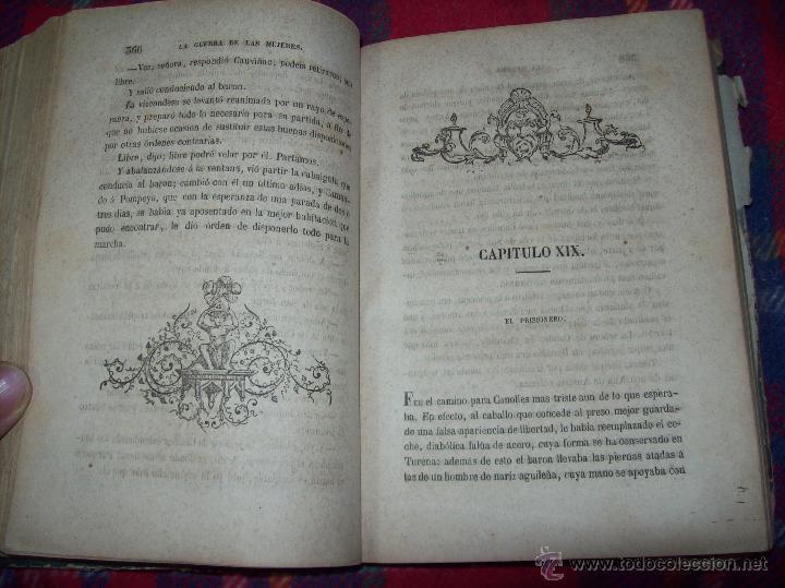 Libros antiguos: LA GUERRA DE LAS MUJERES.ALEJANDRO DUMAS.1ª EDICIÓN 1858. UNA VERDADERA JOYITA.VER FOTOS. - Foto 22 - 46504884