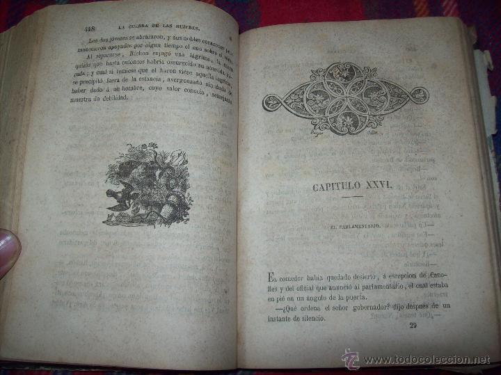 Libros antiguos: LA GUERRA DE LAS MUJERES.ALEJANDRO DUMAS.1ª EDICIÓN 1858. UNA VERDADERA JOYITA.VER FOTOS. - Foto 24 - 46504884