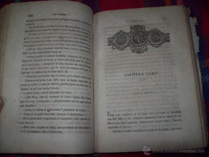 Libros antiguos: LA GUERRA DE LAS MUJERES.ALEJANDRO DUMAS.1ª EDICIÓN 1858. UNA VERDADERA JOYITA.VER FOTOS. - Foto 26 - 46504884