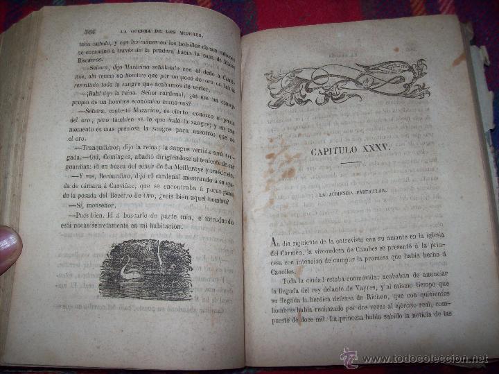 Libros antiguos: LA GUERRA DE LAS MUJERES.ALEJANDRO DUMAS.1ª EDICIÓN 1858. UNA VERDADERA JOYITA.VER FOTOS. - Foto 27 - 46504884