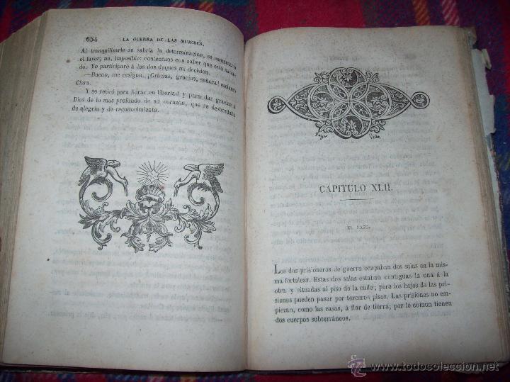 Libros antiguos: LA GUERRA DE LAS MUJERES.ALEJANDRO DUMAS.1ª EDICIÓN 1858. UNA VERDADERA JOYITA.VER FOTOS. - Foto 29 - 46504884