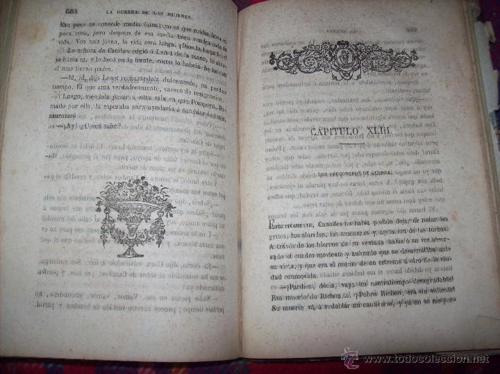 Libros antiguos: LA GUERRA DE LAS MUJERES.ALEJANDRO DUMAS.1ª EDICIÓN 1858. UNA VERDADERA JOYITA.VER FOTOS. - Foto 30 - 46504884