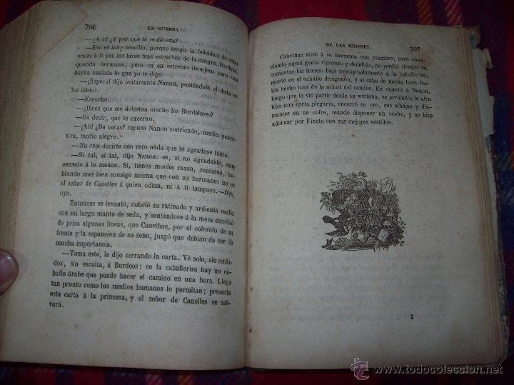 Libros antiguos: LA GUERRA DE LAS MUJERES.ALEJANDRO DUMAS.1ª EDICIÓN 1858. UNA VERDADERA JOYITA.VER FOTOS. - Foto 32 - 46504884