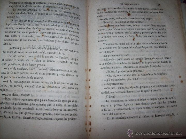 Libros antiguos: LA GUERRA DE LAS MUJERES.ALEJANDRO DUMAS.1ª EDICIÓN 1858. UNA VERDADERA JOYITA.VER FOTOS. - Foto 33 - 46504884