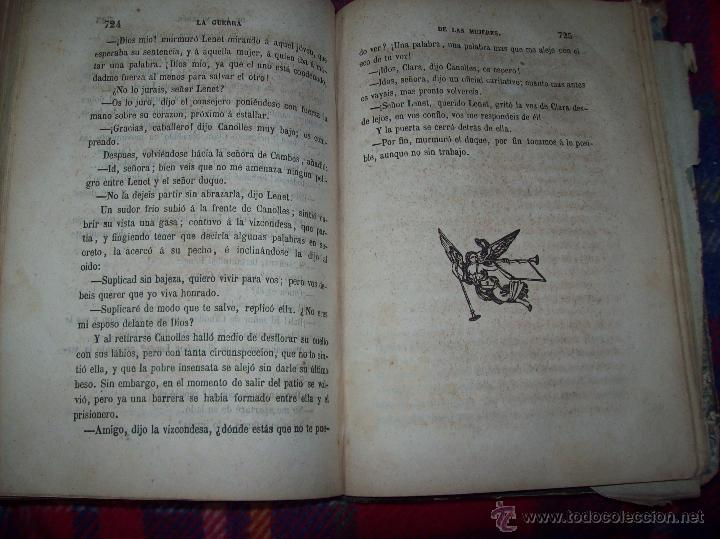Libros antiguos: LA GUERRA DE LAS MUJERES.ALEJANDRO DUMAS.1ª EDICIÓN 1858. UNA VERDADERA JOYITA.VER FOTOS. - Foto 34 - 46504884