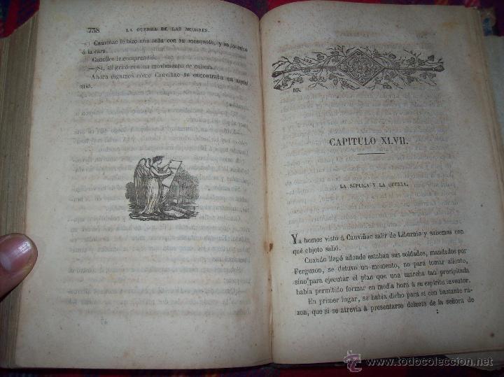 Libros antiguos: LA GUERRA DE LAS MUJERES.ALEJANDRO DUMAS.1ª EDICIÓN 1858. UNA VERDADERA JOYITA.VER FOTOS. - Foto 35 - 46504884