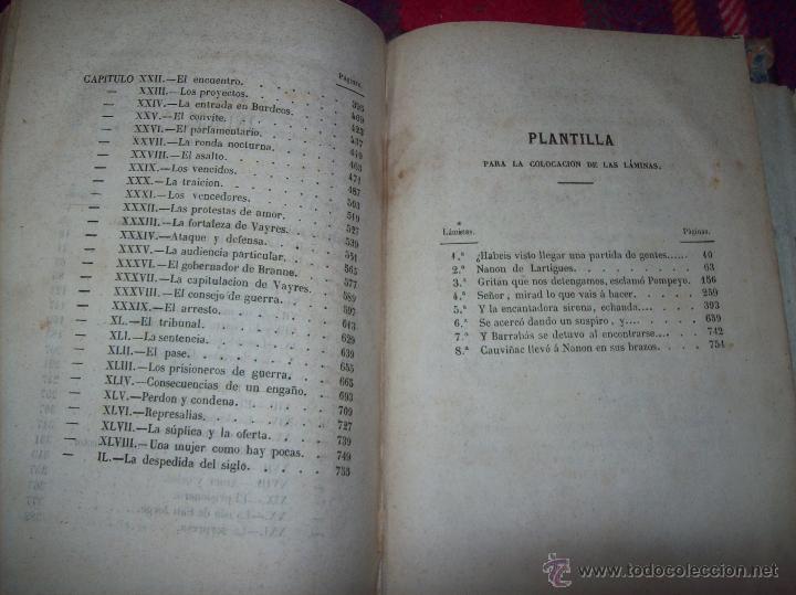 Libros antiguos: LA GUERRA DE LAS MUJERES.ALEJANDRO DUMAS.1ª EDICIÓN 1858. UNA VERDADERA JOYITA.VER FOTOS. - Foto 38 - 46504884