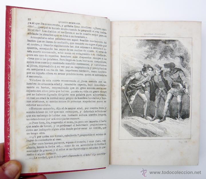 Libros antiguos: QUINTIN DURWARD / W. SCOTT / LIB. ESPAÑOLA-LUIS TASSO 1857 / ILUSTRADO/ RARO - Foto 3 - 46720243