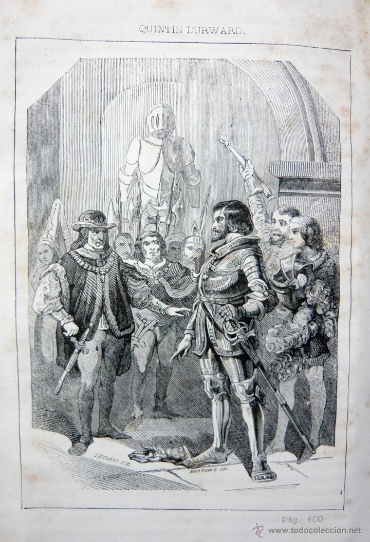 Libros antiguos: QUINTIN DURWARD / W. SCOTT / LIB. ESPAÑOLA-LUIS TASSO 1857 / ILUSTRADO/ RARO - Foto 4 - 46720243