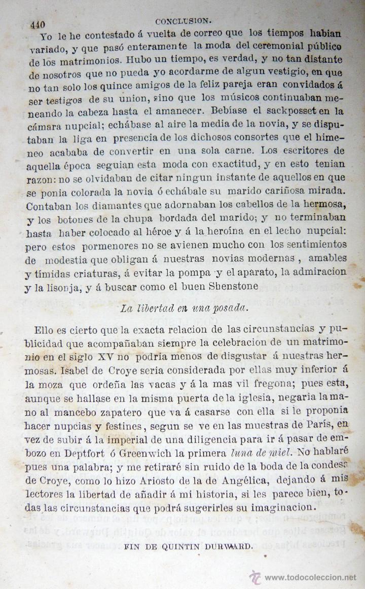 Libros antiguos: QUINTIN DURWARD / W. SCOTT / LIB. ESPAÑOLA-LUIS TASSO 1857 / ILUSTRADO/ RARO - Foto 6 - 46720243