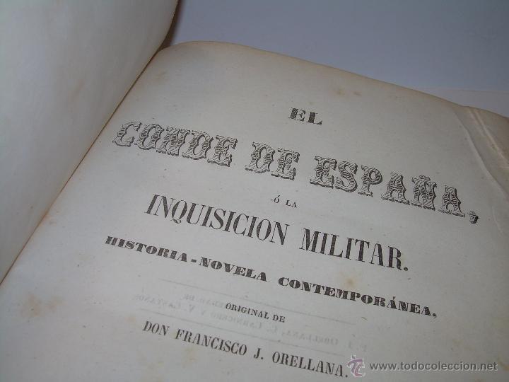 ANTIGUO LIBRO TAPAS DE PIEL......INQUISICION MILITAR.........AÑO..1.856 (Libros antiguos (hasta 1936), raros y curiosos - Literatura - Narrativa - Novela Histórica)
