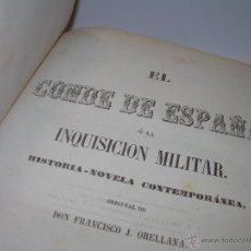 Libros antiguos: ANTIGUO LIBRO TAPAS DE PIEL......INQUISICION MILITAR.........AÑO..1.856. Lote 47203014