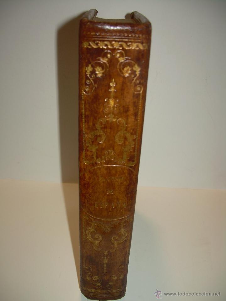 Libros antiguos: ANTIGUO LIBRO TAPAS DE PIEL......INQUISICION MILITAR.........AÑO..1.856 - Foto 3 - 47203014