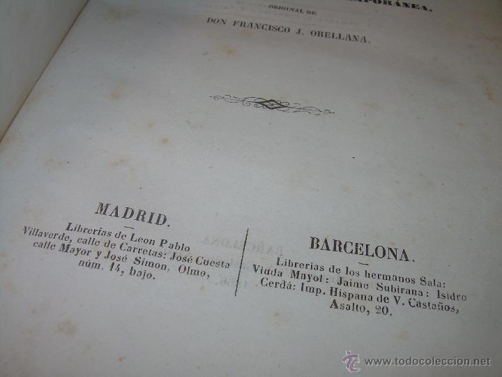 Libros antiguos: ANTIGUO LIBRO TAPAS DE PIEL......INQUISICION MILITAR.........AÑO..1.856 - Foto 4 - 47203014
