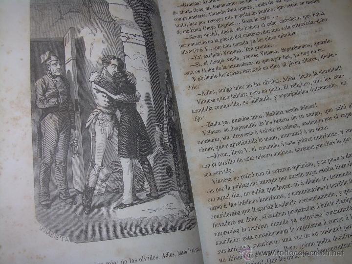 Libros antiguos: ANTIGUO LIBRO TAPAS DE PIEL......INQUISICION MILITAR.........AÑO..1.856 - Foto 10 - 47203014