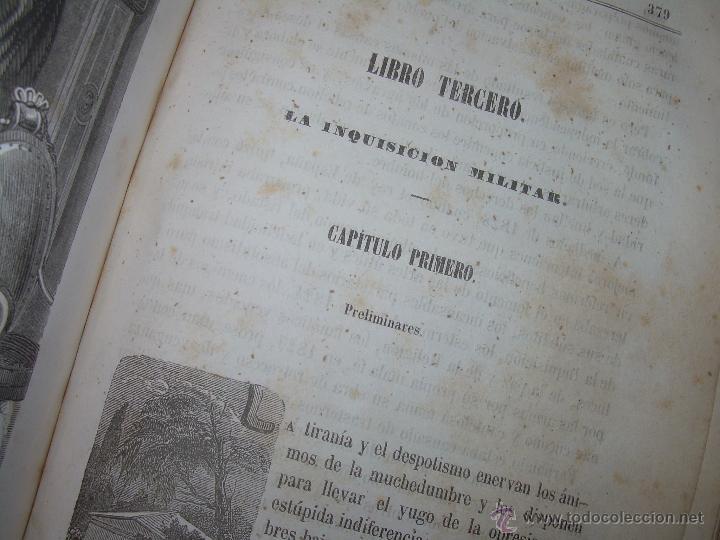 Libros antiguos: ANTIGUO LIBRO TAPAS DE PIEL......INQUISICION MILITAR.........AÑO..1.856 - Foto 13 - 47203014