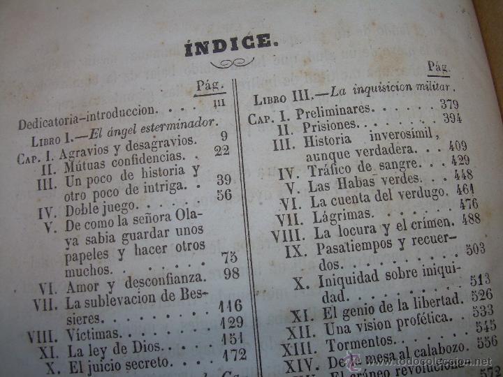 Libros antiguos: ANTIGUO LIBRO TAPAS DE PIEL......INQUISICION MILITAR.........AÑO..1.856 - Foto 15 - 47203014