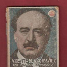 Libros antiguos: EDUARDO ZAMACOIS- BIOGRAFIA DE VICENTE BLASCO IBAÑEZ- LA NOVELA MUNDIAL NÚMERO EXTRA- 1928 LL586. Lote 47298940