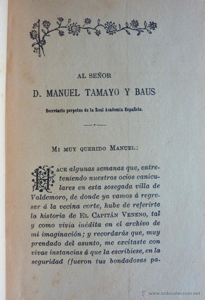 Libros antiguos: El Capitan Veneno e Hª de mis libros, PA de Alarcon 1918 - Foto 3 - 48102476