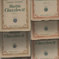 Libros antiguos: MARTIN CHUZZLEWIT. 7 TOMOS. CARLOS DICKENS. ESPASA-CALPE, 1ª EDICIÓN, 1933. Lote 48979366