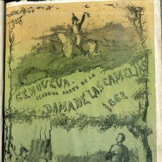 Libros antiguos: ALEJANDRO DUMAS HIJO : GENOVEVA, SEGUNDA PARTE DE LA DAMA DE LAS CAMELIAS (1864). Lote 49423931