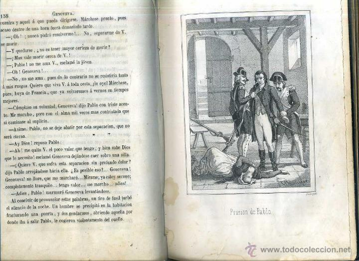 Libros antiguos: ALEJANDRO DUMAS HIJO : GENOVEVA, SEGUNDA PARTE DE LA DAMA DE LAS CAMELIAS (1864) - Foto 4 - 49423931