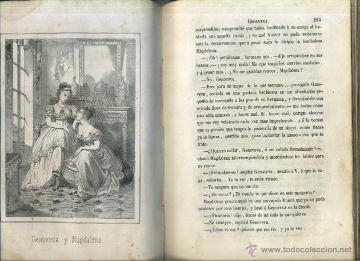Libros antiguos: ALEJANDRO DUMAS HIJO : GENOVEVA, SEGUNDA PARTE DE LA DAMA DE LAS CAMELIAS (1864) - Foto 5 - 49423931
