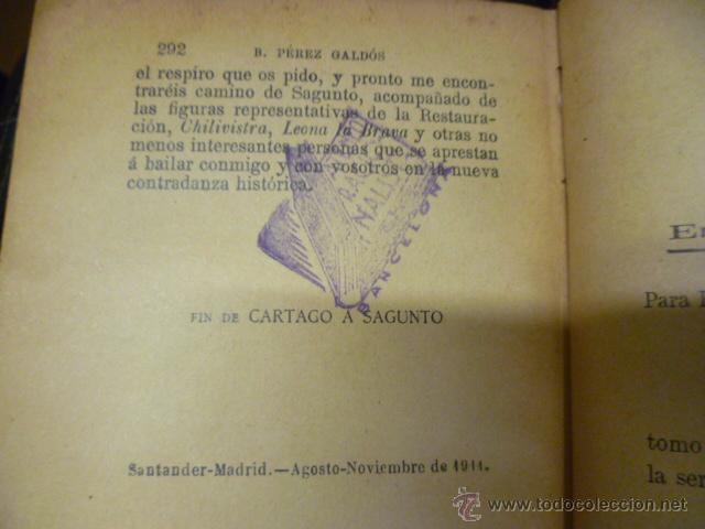 Libros antiguos: DE CARTAGO A SAGUNTO, BENITO PEREZ GALDOS - 1911 - Foto 7 - 50259240