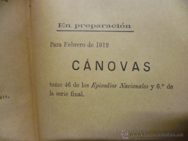 Libros antiguos: DE CARTAGO A SAGUNTO, BENITO PEREZ GALDOS - 1911 - Foto 9 - 50259240
