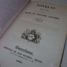 Libros antiguos: LIBRO TAPAS DE PIEL......OBRAS DE MIGUEL DE CERVANTES Y SAAVEDRA.....AÑO..1.844. Lote 50832951