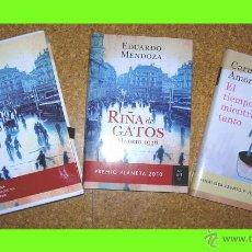 Libros antiguos: ESTUCHE PREMIO PLANETA - RIÑA DE GATOS Y EL TIEMPO MIENTRAS TANTO (PRIMER PREMIO Y FINALISTA 2010). Lote 50882714
