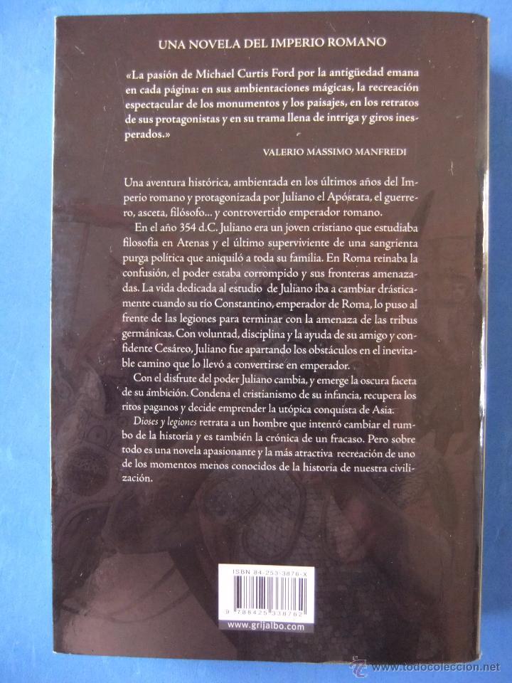 Libros antiguos: DIOSES Y LEGIONARIOS DE MICHAEL CURTIS FORD EDICIONES GRIJALBO - Foto 2 - 50980000