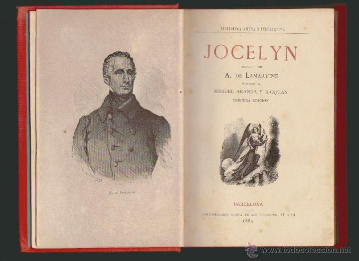 Libros antiguos: Alphonse de Lamartine.Jocelyn.Traducción de Manuel Aranda y Sanjuan. - Foto 3 - 51145778