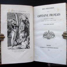 Libros antiguos: 1860. LES AVENTURES D'UN CAPITAINE FRANÇAIS, PLANTEUR AU TEXAS - RARE - AMERICANA. Lote 51938498