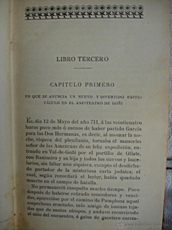 Libros antiguos: Amaya o los vascos en el siglo VIII - Foto 3 - 54498539